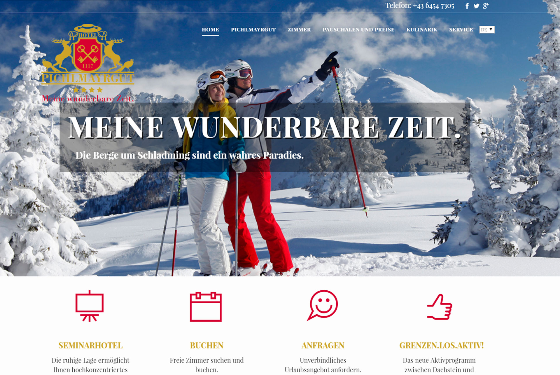 Website Pichlmayrgut in Schladming